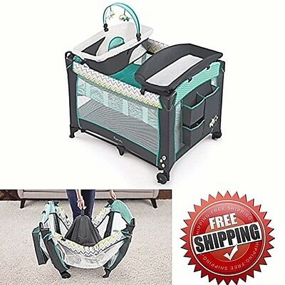 Babies Playpin Portable Napper All In One Playpen Newborn Extra Large Baby NEW