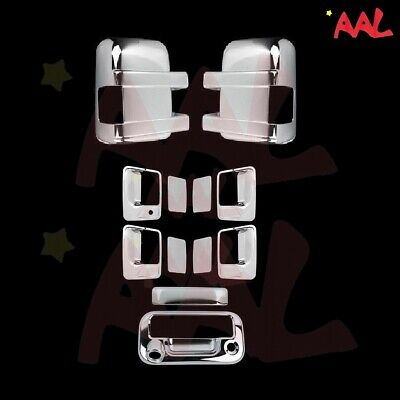 Aal For Ford F-250/f-350 08-16 Chrome Mirror, Door Handle, Tailgate Cover W/ Cam