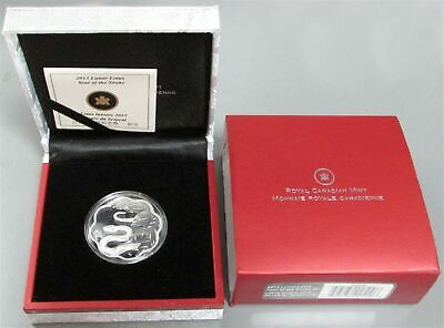 2013 Silver Canada $15 Lunar Lotus Proof Scalloped Year Of The Snake Box Coa