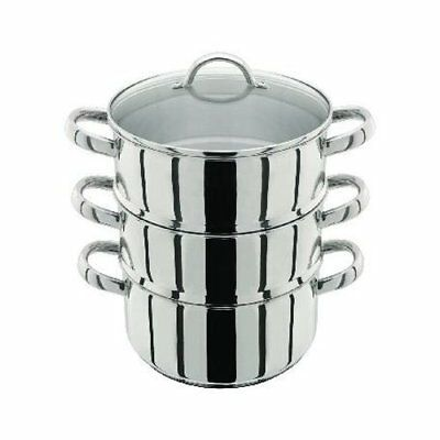 Judge 3 Tier Steamer Set, Silver, 22 cm