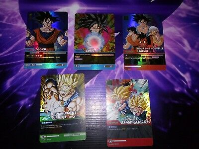 Full set Promo Dragon ball Z Super cartes à collectionner cards EX HOLO Prism