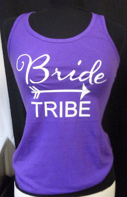 Purple Bride Tribe racerback Tank Top Bridal Party Bachelorette Party Shirts