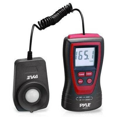 Pyle PLMT15 Handheld Lux Light Meter Photometer with 2X Per Second Sampling, LCD