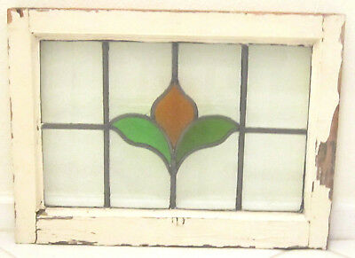 ~ Antique Vintage English Hanging Stained Glass Window ~