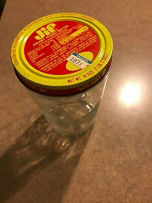 Jif Peanut Butter (GLASS Measuring Cup) Jar With Lid