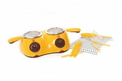 Silicone Bakeware Chocolatiere Double Electric Chocolate Melting Pot, Yelow