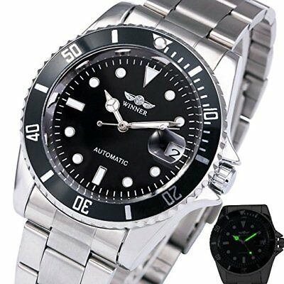 333ce3f6208 Men s Luminous Calendar Rotatable Stainless Steel Automatic Mechanical  Watches