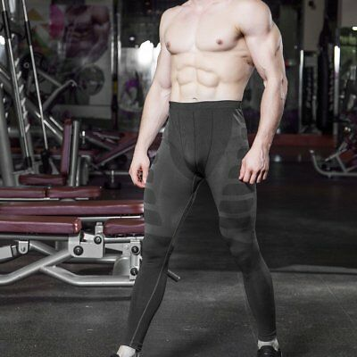 Yuerlian Men Compression Tight Long Pants Sports Bodybuilding Trousers F7
