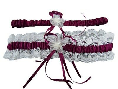 5 Color Wedding Garter Bridals Belt Hot Women Stain Peal Lace Floral Party US
