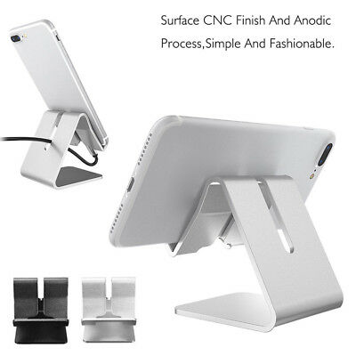 Aluminum Universal Desktop Desk Stand Holder Mount For Cell Phone iPhone Tablet
