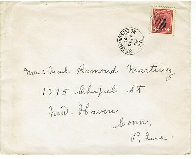 Canada.  1946 cover with 4c stamp cancelled St. Armand Station 12/16/1946.