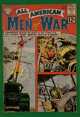 All-American Men of War # 95 DC Comics FN 1963 Battle Aces of 3 Wars Issue