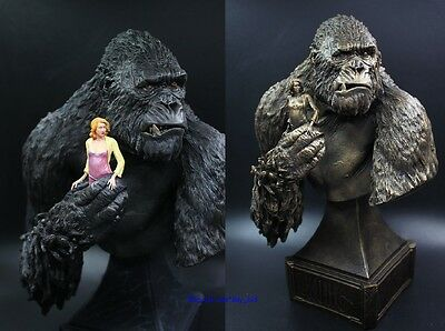 """12"""" King Kong & Anne Skull Island Resin Bust Statue New 3 Colors for Choice"""
