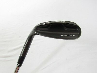 Used LH Cleveland Niblick Black 56* Sand S Wedge Traction Steel W-Flex Wedge