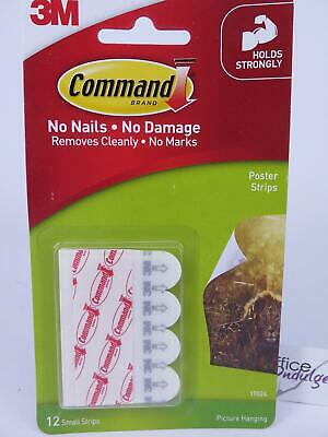 3M Command Poster Strips Hanging & Mounting 17024 12 Strips