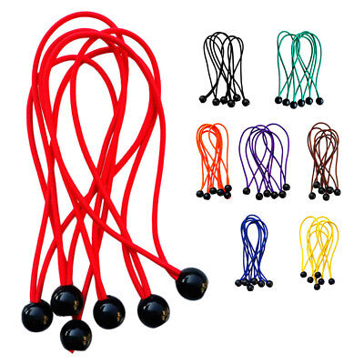 6pcs 3mm 15cm Heavy Duty Ball Bungee Cords Tarp Canopy Flag Pole Tie Ropes