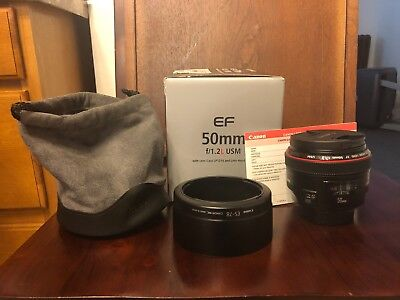 Canon EF 50mm f/1.2L USM LENS WITH GEEK SQUAD PROTECTION 3/2020