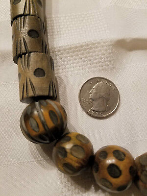 Vintage Carved African Style Wooden Beads Tribal? Trade beads?