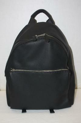 a99a5d8ec2 Authentic FENDI Roma Italy Selleria Black Pebbled Leather Backpack  2850
