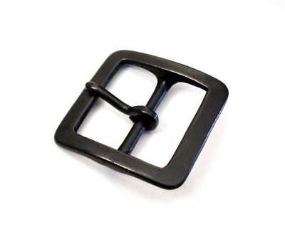 40mm SOLID BRASS BLACK HEAVY SQUARE BUCKLE Single Prong Garrison Belt Japan