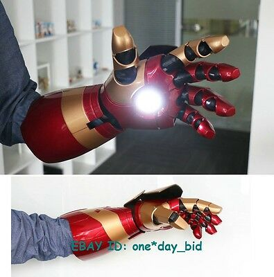 1:1 IRON MAN MK42 LEFT ARM LASER DEVICE PALM LIGHT SOUND EFFECT Cosplay Cattoys