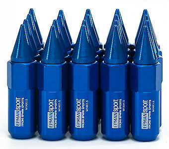BLUE ALUMINUM WHEEL LUG NUTS x 20 PCS - 14 x 1.5 Removable Tip HSV Commodore