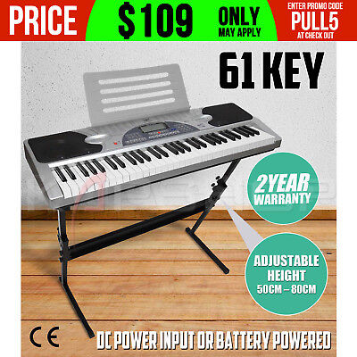 Piano Combo Stand + 61 Keys Electronic keyboard/Electric Piano/Power Adaptor