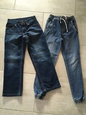 Boys Size 8 Jeans Straight Leg & Jeggings x2 Pairs As New