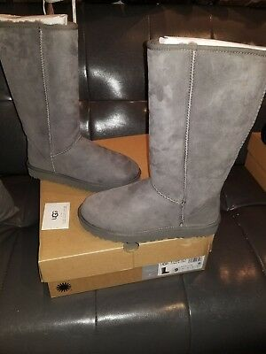 0353f7c0ab84 UGG Classic Tall II 2.0 Gray Grey Water-resistant Suede Boots Size US 8  Womens