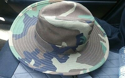 Original Army USA Boonie Camo Cowboy Jungle Bush Hat