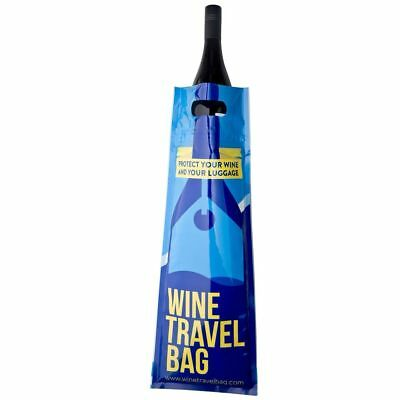 Wine Travel Bag Leak Proof Reusable Luggage Protector - 4/6/8 pack - Aust Made!