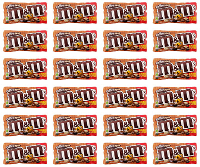 909917 24 x 92.7g PACKETS OF COFFEE NUT M&M'S PEANUT CHOCOLATE CANDY SHARE SIZE