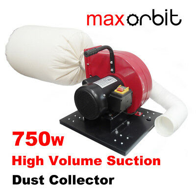 Wood MDF Dust Collector 750W Portable High Volume Suction 65L Bag Vacuum Cleaner