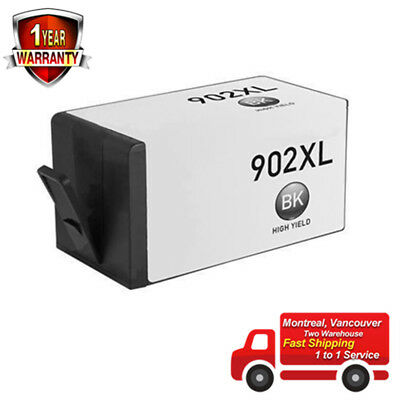 1 Pack Black Ink Cartridge for HP 902XL HP 902 XL for Officejet 6950 6954