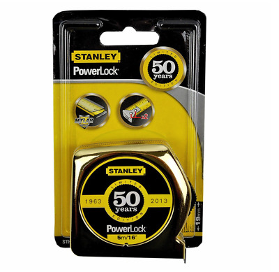 Stanley Golden 50 Year PowerLock Tape 5m Celebrate Limited Edition Top Quality