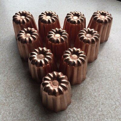 French Copper Canele Moulds x 10
