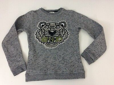 KENZO Tiger Face Age 10 Years Grey Beads Sweater