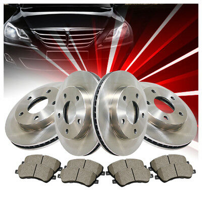 Centric Front+Rear Brake Rotors & Ceramic Pads 6PCS For Cadillac SRX 2011