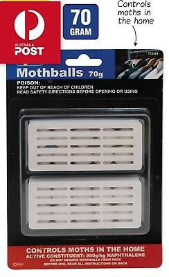 20 X 70 G Mothballs Poison Fresh and Moth Ball protect clothes BUGS Brand New