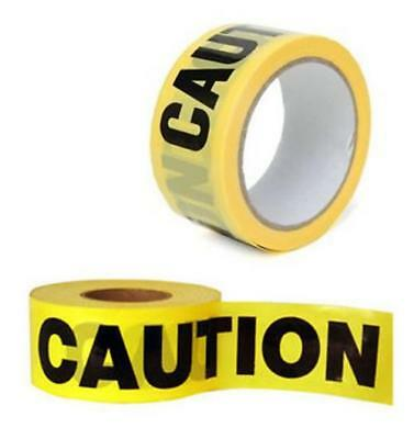 50M Caution Tape Yellow Pvc Roll Self Adhesive Hazard Safety Warning Tape 72082