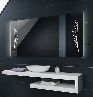 Illuminated LED Bathroom Mirror To Measure Custom Size L53