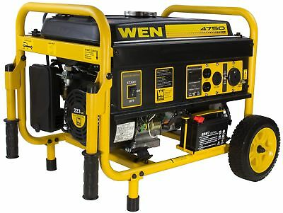Portable Generator Inverter Gas Powered 4750 Watts with Wheels & Electric Start