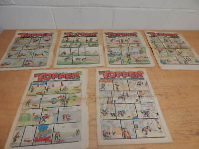 6 x Topper Comic 1971  featuring Mickey