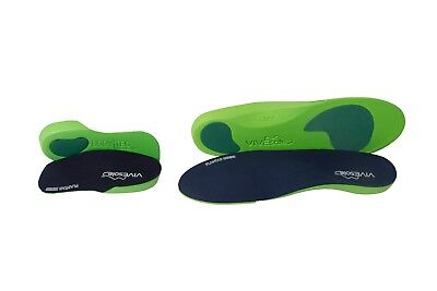 Vivesole 1 pair of each full length and 3/4 slim fit orthotic insoles