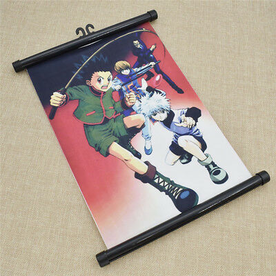 Hunter X Hunter Wall Poster Scroll Hooks Hanger Home Decoration HandCraft 1X New