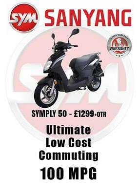 Sym Simply 50 £1299 + Otr Uk Delivery 2 Year Warranty