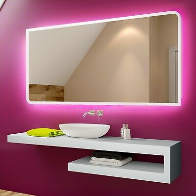 Illuminated LED Bathroom Mirror To Measure Custom Size L80