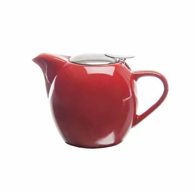 Zuhause - Kiko Ceramic Tea Pot with Stainless Steel Lid and Infuser 750ml Gloss