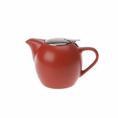 Zuhause - Kiko Ceramic Tea Pot with Stainless Steel Lid and Infuser 500ml Matt O