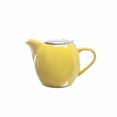Zuhause - Kiko Ceramic Tea Pot with Stainless Steel Lid and Infuser 500ml Gloss